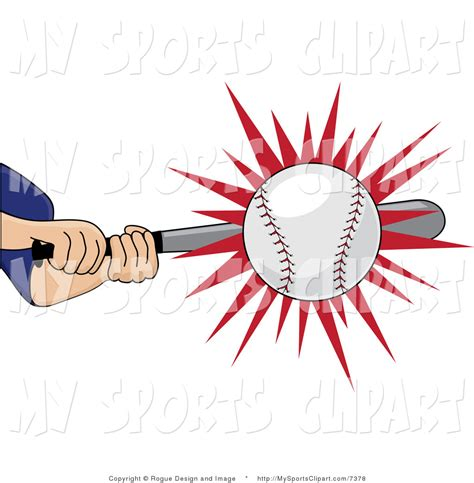 hitting a baseball hit clipart 23