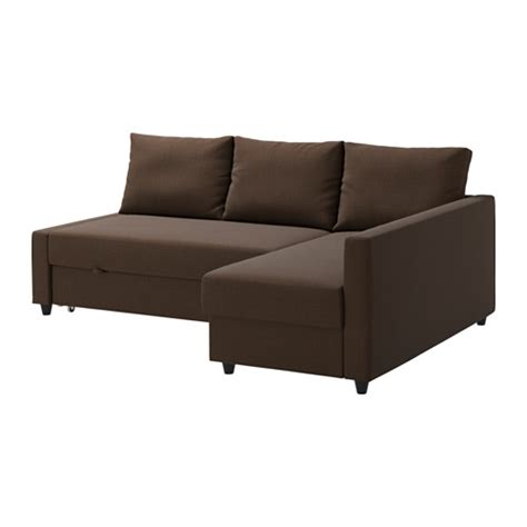 Sofa Bed With Chaise Lounge Friheten Sofa Bed With Chaise Skiftebo Brown Ikea