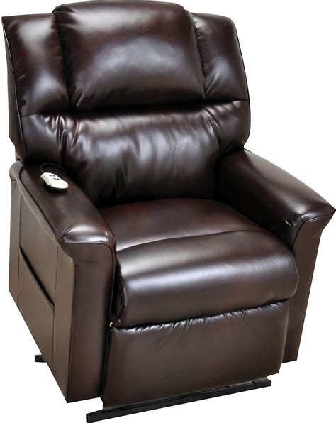 Leather Recliner Lift Chairs by Bonded Leather 3 Position Power Lift Recliner Brown