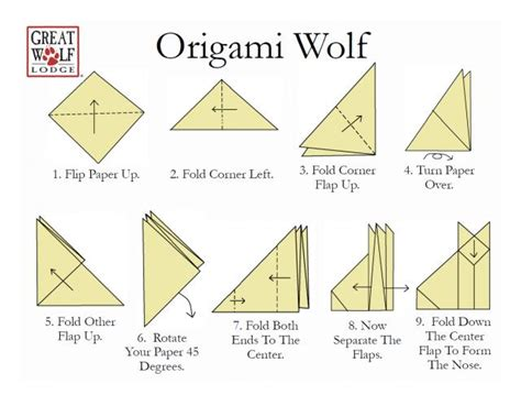 Easy Origami Wolf - easy wolf origami image search results