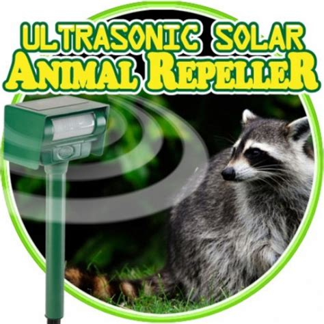 backyard animal sounds ultrasonic solar animal repeller new easy