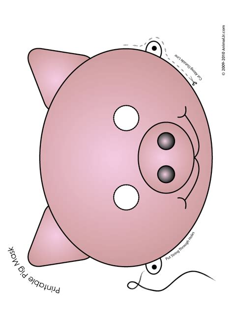 pig mask template printable pig mask color woo jr activities