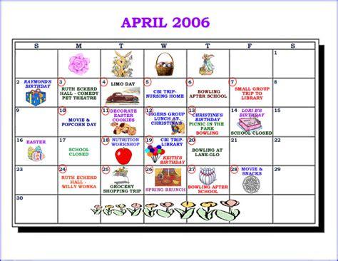 April 2006 Calendar A F I R E Of Pasco County Inc Calendar
