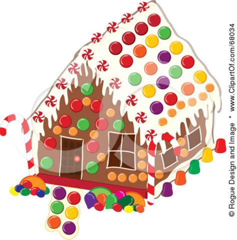 gingerbread house clipart royalty free rf clipart illustration of a christmas gingerbread house decorated with