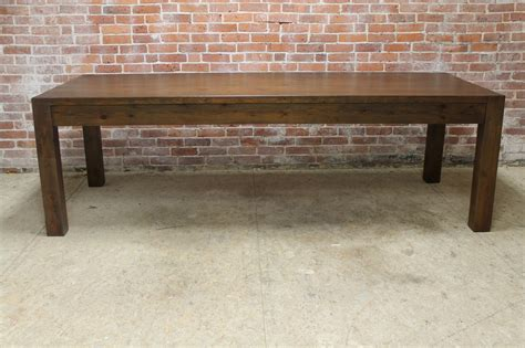 Parsons Style Dining Table Farm Table Parsons Style Lake And Mountain Home