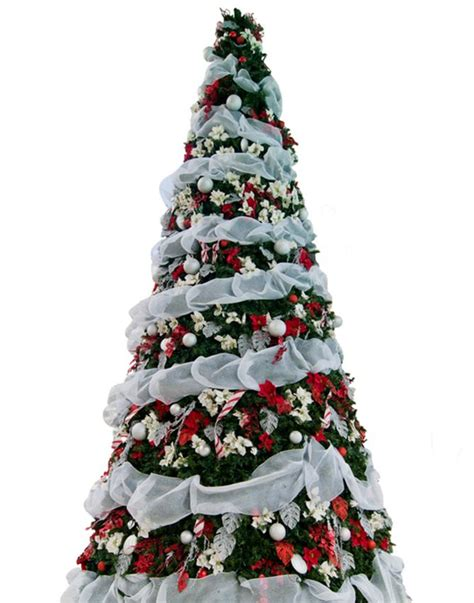 decorating a christmas tree with ribbon slideshow