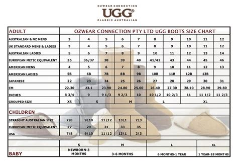 boot sizing ugg size chart new calendar template site