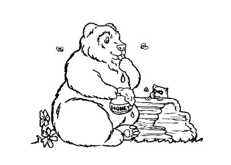 honey bear coloring pages honey bear free colouring pages