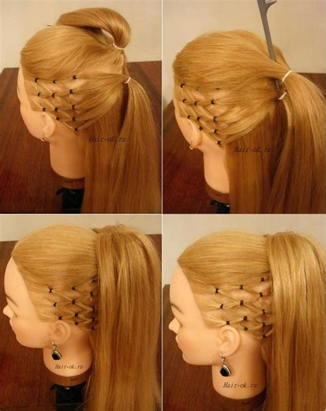 diy hairstyles ponytail how to diy high ponytail with side mesh hairstyle