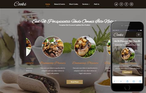Top 10 Free Html5 Bootstrap Restaurant Website Templates In 2016 Free Responsive Restaurant Website Templates