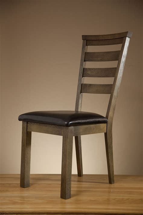 Windsor Brushed Solid Oak And Black Leather Dining Chair Black And Oak Dining Chairs