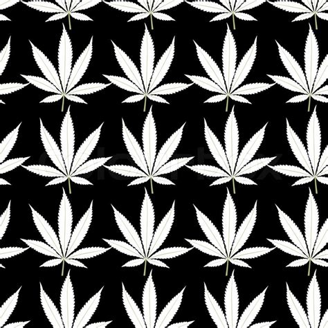 black and white weed wallpaper nahtlose marihuana wei 223 e bl 228 tter auf schwarzem hintergrund