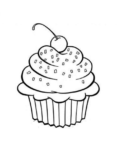 Free Cupcake Coloring Pages free printable cupcake coloring pages for