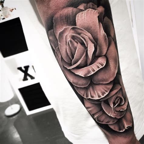 tattoo rose arm black tattoos askideas