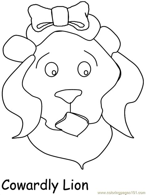 cowardly lion coloring pages wizard of oz coloring page free wizard of oz coloring