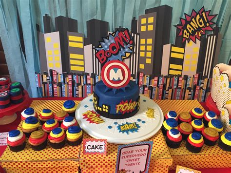 Cupcake Home Decor Superhero Baby Shower Sarah Combs Events