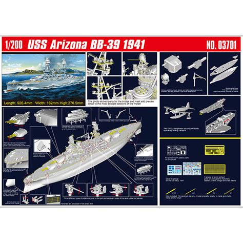 battleship uss arizona bb   plastic model kit