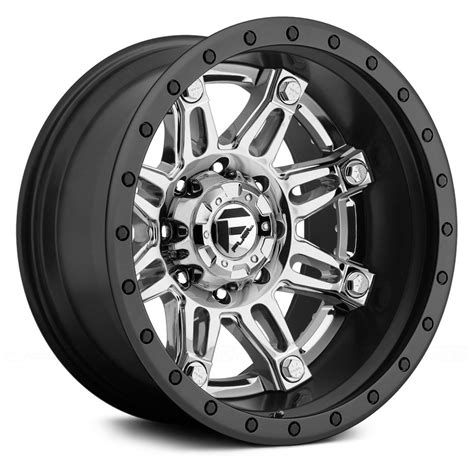 Wheels Fuel fuel 174 hostage 2pc forged center wheels black with chrome rims