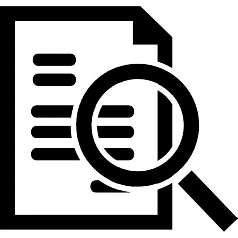 Free Search And Info Document Search Interface Symbol Icons Free