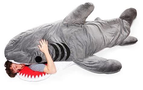 giant stuffed shark sleeping bag chumbuddy giant sleeping shark bag