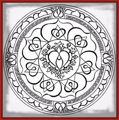 imagenes mandalas de corazones dibujos para colorear de corazones archivos imagenes de