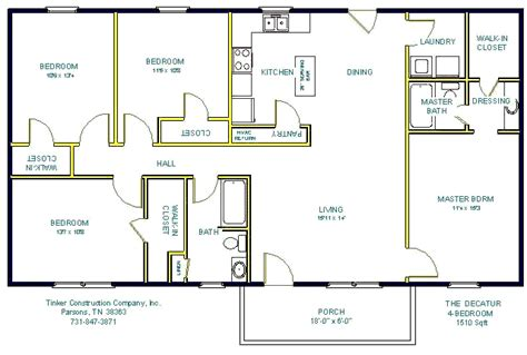 floor plan companies tinker construction company inc floor plans