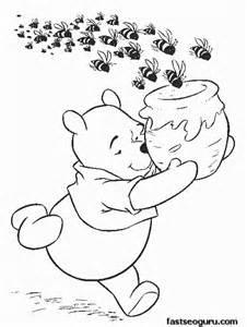 free printable coloring pages kids winnie pooh printable coloring pages kids