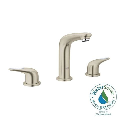 grohe grandera 8 in widespread 2 handle high arc bathroom faucet in polished chrome 20419000 moen darcy 8 in widespread 2 handle high arc bathroom