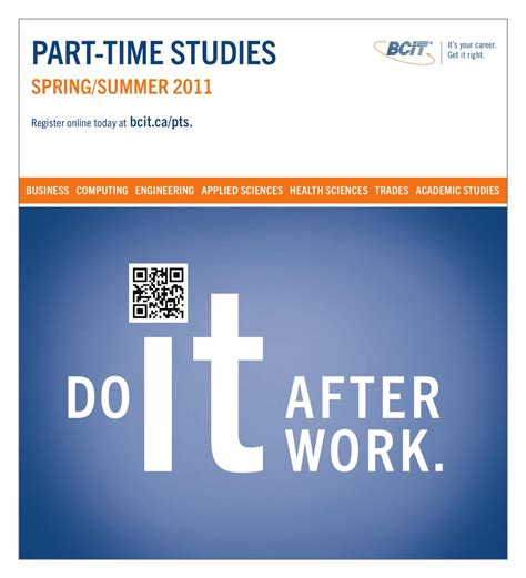Columbia Mba Part Time Cost by Bcit Part Time Studies Flyer Summer 2011 By Bcit
