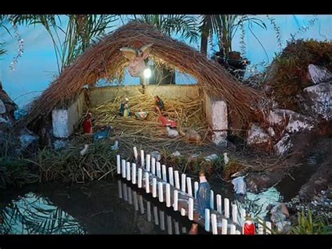 beautiful christmas crib decoration youtube