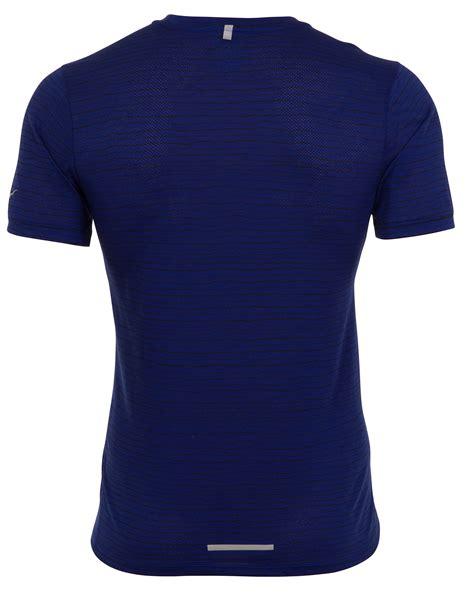 Nike Tailwind Blue nike dri fit cool tailwind stripe blue mens running t