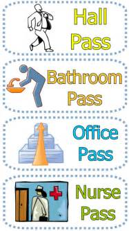 Gallery for gt classroom bathroom pass