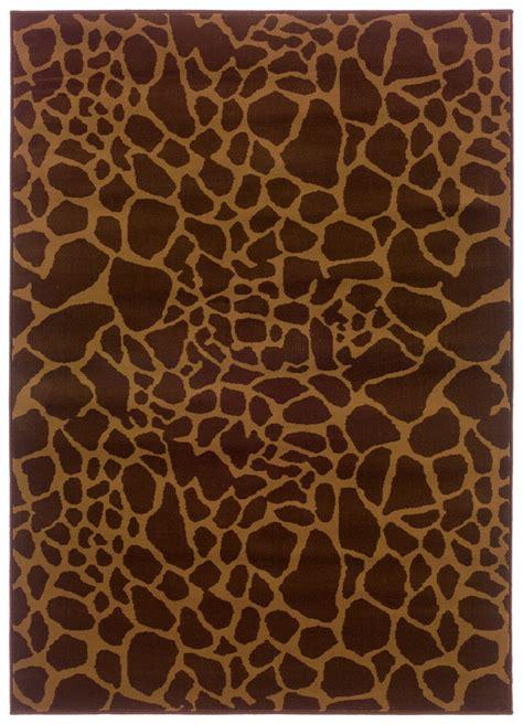 brown animal print rug animal print sphinx rugs weavers amelia brown 11042 polypropylene