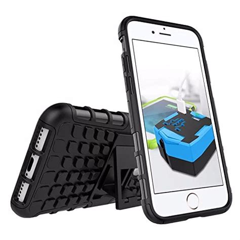 Rugged Iphone 7 47 Softhard Back Stand Dual Armor Cover 2801 iphone 7 plus cineyo tm heavy duty rugged dual layer with kickstand apple iphone 7