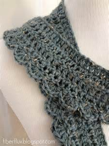 fiber flux free crochet pattern ocean air scarf