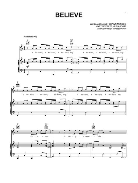 cher believe testo believe sheet by shawn mendes piano vocal guitar