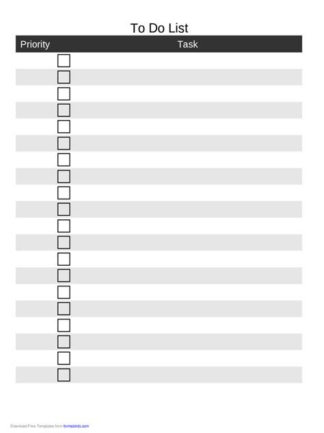 to do list template 11 free templates in pdf word