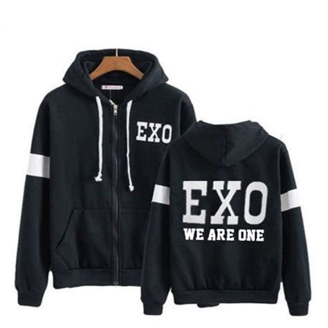 Zipper Hoodie Sweater Exo Kpop kpop exo exo rdium zipper hoodie chanyeol sweater baekhyun lay sweatershirt coat ebay