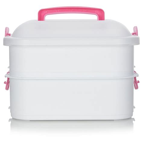 Innobaby 4 Tier Travel Pink T2909 2 george home two tier pink cupcake carrier baking asda direct