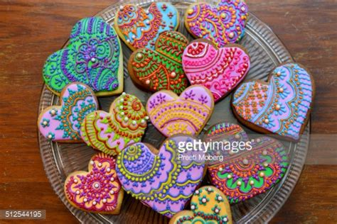 decorated cookie henna decorated cookies stock photo getty images