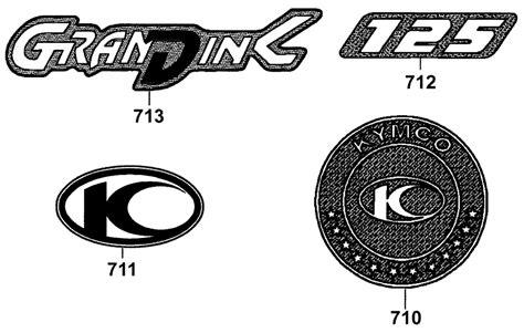 Aufkleber Kymco Roller by Kymco Grand Dink 125 Emblems Aufkleber Ersatzteile