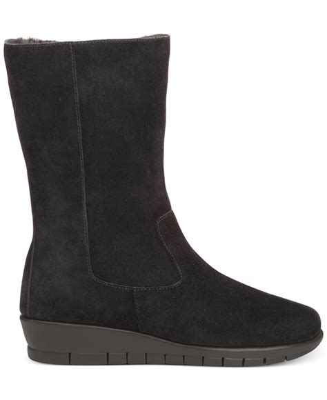 aerosole boots aerosoles plantation mid shaft cold weather boots in black
