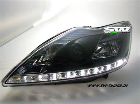 led len kaufen günstig swlight headlights ford focus mk2 08 11 black led