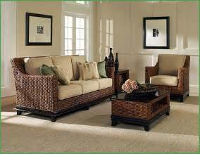 decorating dream living room with rattan furniture