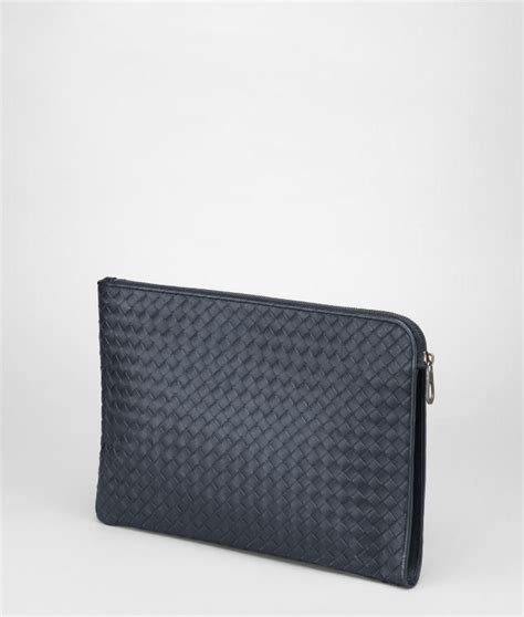 Pouch Bottega Veneta Document Intrecciato Vn Small Hitam So7462 bottega veneta 174 intrecciato vn document