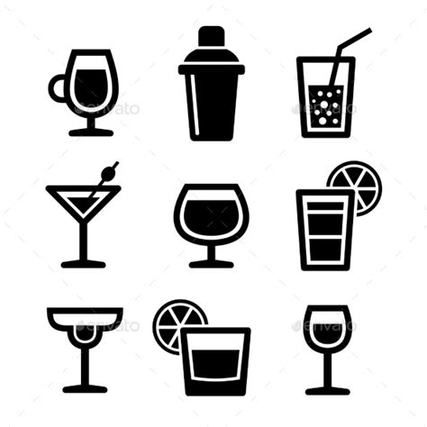cocktail icon cocktail glasses silhouette 187 tinkytyler org stock