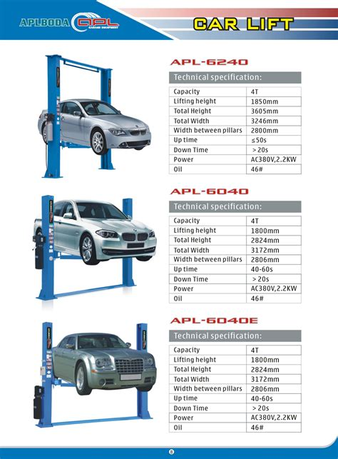 Car Lift Types by Pit Type 2 Post Car Parking Lift For Home Garage