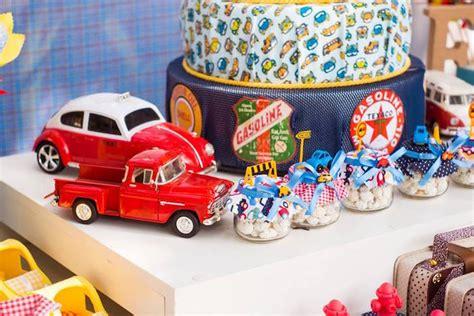 Kara S Party Ideas Vintage Car Party Classic Car Centerpieces