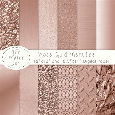 glitter wallpaper south africa rose gold digital paper pack with rose gold metallic glitter