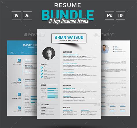 Resume Template Adobe Indesign by 20 Best Professional Indesign Resume Cv Template 2018